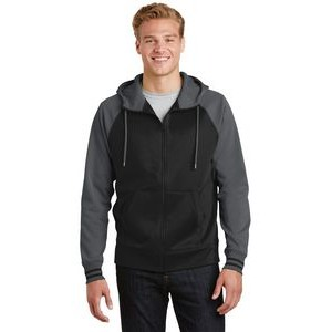 Men's Sport-Tek® Sport-Wick® Varsity Fleece Full-Zip Hooded Jacket