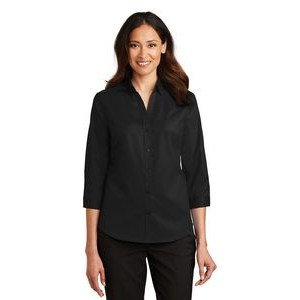 Port Authority® SuperPro™ Ladies 3/4- Sleeve Twill Shirt