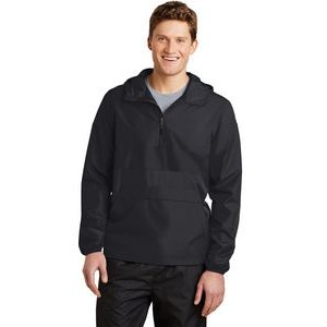 Sport-Tek® Zipped Pocket Anorak Jacket