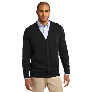 Port Authority® Value V-Neck Cardigan Sweater w/ Pockets