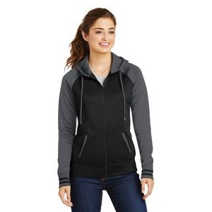 Ladies' Sport-Tek® Sport-Wick® Varsity Fleece Full-Zip Hooded Jacket