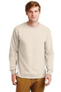 Gildan Ultra Cotton 100 percent Cotton Adult Long Sleeve T-Shirt