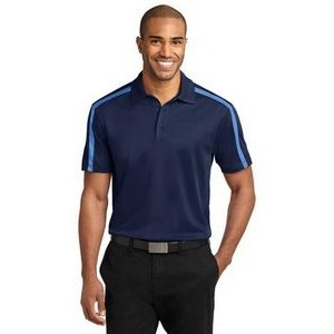 Port Authority® Silk Touch™ Performance Colorblock Stripe Polo Shirt
