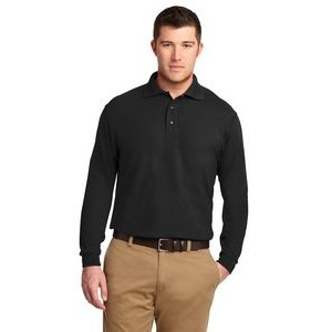 Port Authority® Silk Touch™ Long Sleeve Polo Shirt