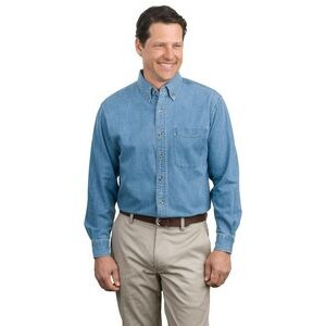 Port Authority® Classic Long Sleeve Denim Shirt