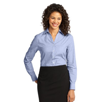 Port Authority® Ladies' Crosshatch Easy Care Shirts