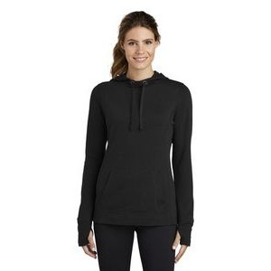 Ladies Sport-Tek® PosiCharge® Tri-Blend Wicking Fleece Hooded Pullover