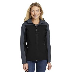 Port Authority® Ladies' Hooded Core Soft Shell Jacket