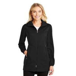 Port Authority® Ladies' Active Hooded Soft Shell Jacket