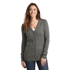 Port Authority® Ladies Marled Cardigan Sweater