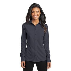 Port Authority® Dimension Knit Ladies' Dress Shirt
