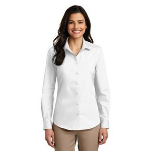 Port Authority® Ladies Long Sleeve Carefree Poplin Shirt