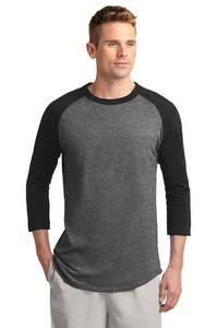 Mens Sport-Tek Colorblock Raglan Jersey Shirt