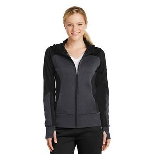 Ladies' Sport-Tek® Tech Fleece Colorblock Full-Zip Hooded Jacket