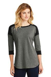 New Era Ladies Heritage Blend 3/4 Sleeve Baseball Raglan Tee Shirt