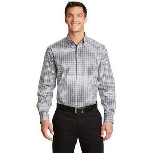 Port Authority® Long Sleeve Gingham Easy Care Shirts