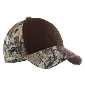 Port Authority® Camo Cap w/Contrast Front Panel
