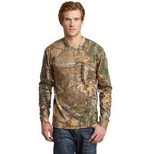 Russell Outdoors™ Men's RealTree® Long Sleeve Explorer 100% Cotton T-Shirt w/Pocket