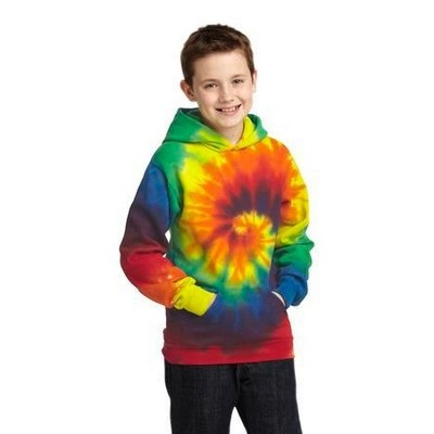 Port & Company® Tie-Dye Youth Pullover Hooded Sweatshirt