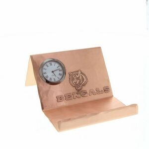 Mercer Copper Business Card Holder w/Clock