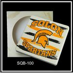 Custom Square Absorbent Stone Coaster- Custom Printed - Packaged in Single Window Box - Basic Print