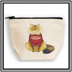 Custom Canvas Libby Lu Pouch with Black Zipper
