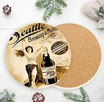 Custom Custom Printed Round Absorbent Stone Coaster - Full Bleed