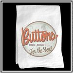 Custom White Vintage Flour Sack Towel with Custom Print