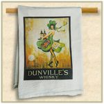 Custom Natural Vintage Flour Sack Towel with Custom Print. Towel Size 30
