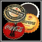 Custom Bottle Cap Stone Magnet