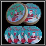Custom 4 Round Absorbent Stone Coaster Gift Box Set with Printed Label - Full Bleed Print
