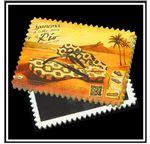 Custom Postage Stamp Edge Stone Magnet - Horizontal Print