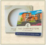 Custom Square Absorbent Stone Coaster- Custom Printed - Packaged in Single Window Box