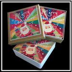 Custom 4 Square Absorbent Stone Coaster Gift Box Set with Printed Label - Full Bleed Print