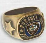 Custom Die Struck W/Soft Enamel Center Award Ring