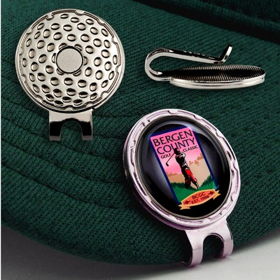 "Golf Hat Clip w/ Custom Ball Marker (7/8"")"