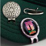 Custom Golf Hat Clip w/ Custom Ball Marker (7/8