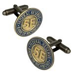 Custom Cufflinks, Custom Die Struck Antique Finish 3/4