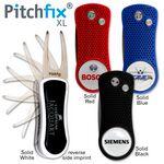 Custom Pitchfix XL Spring-Action Golf Divot Tool W/Ball Marker