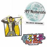 Custom Pin Pointe Full Color Embroidered Patches (4