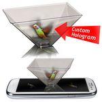 Custom 3D Hologram Video Viewer Pyramid