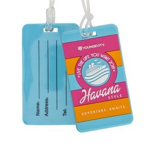 PVC Luggage Tags w/ Write-On Back