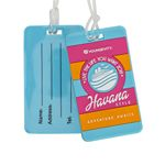Custom PVC Luggage Tags w/ Write-On Back