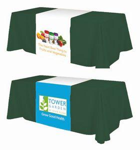 Table Runner Standard - Fully printed on 6 oz polyester fabric