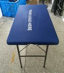 Custom Super Fitted Stretch Fit Tablecloth, 6' table, Fully printed.