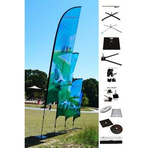 6' BLADE Wing Flag KIT, Double Sided Print