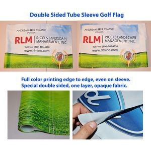 Golf Course Flag, Double sided, Tube Sleeve