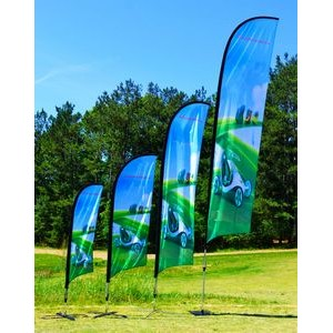 12' BLADE Wing Flag KIT, Single Reverse Print