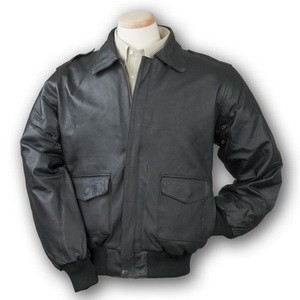 Napa Leather Bomber Jacket (Black)