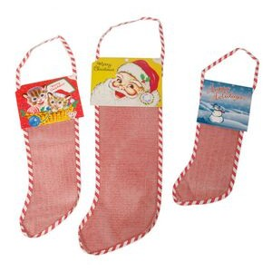 "Santa Topper for Empty Red Mesh Stockings (10"" through 12"")"
